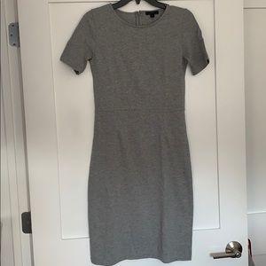 J Crew Size 2T Grey Cotton Sheath Dress